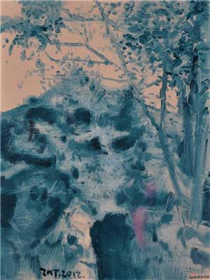 朱明弢作品《忆园系列之八》60X80cm 2012